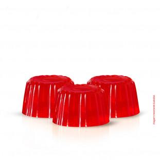 Imagem de 3 gomas de colágeno para crescimento capilar sabor morango